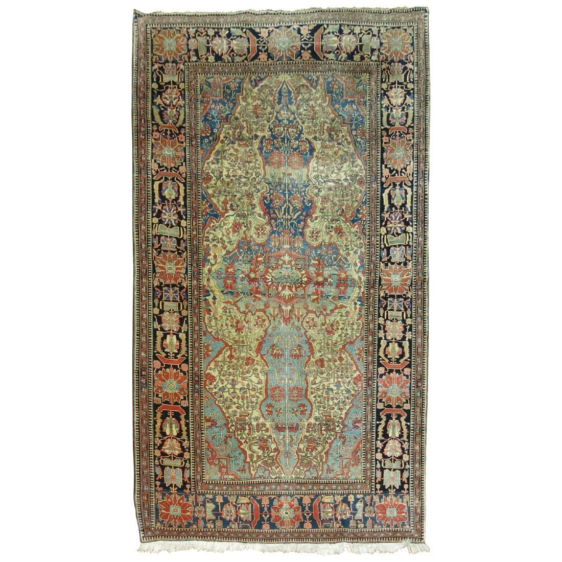 Antique Mohtasham Kashan Rug