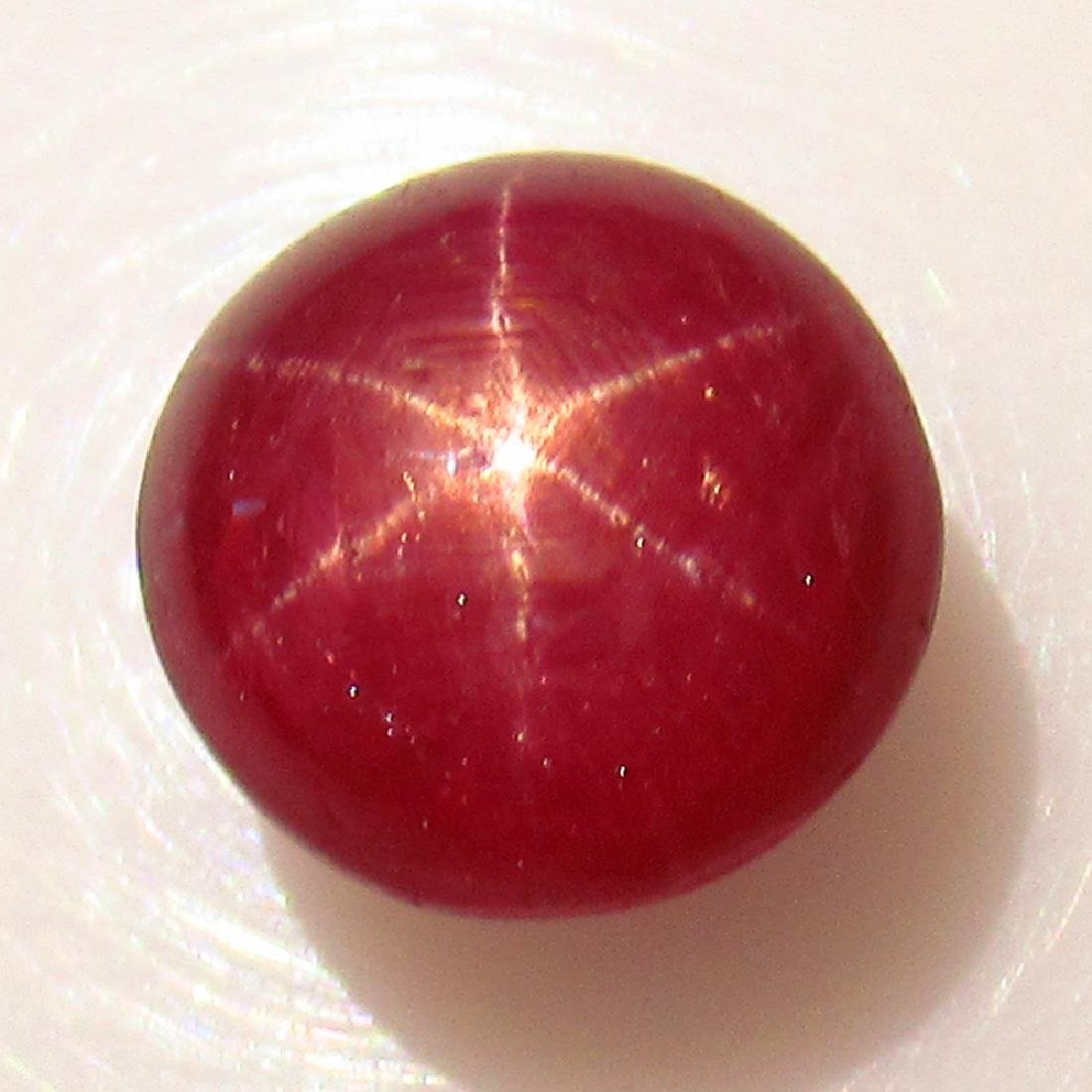 5.23 Ct Genuine Six Line Star Ruby 8.5 mm Round Cab