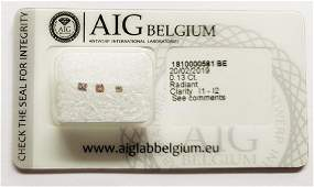 Lots of 3 Diamonds total 0.13 ct Shape Radiant Clarity
