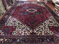 semi Antique Large size Persian Heriz Rug-4586