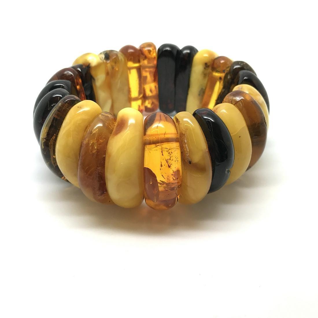 Extraordinar old cut amber bracelet 105 gr