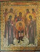 Antique 19c Russian Icon of St.Mihail & Selected Saints