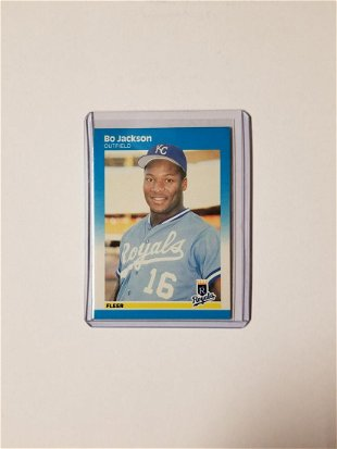 Bo Jackson Rookie Baseball Card Aug 03 2019 Bakers