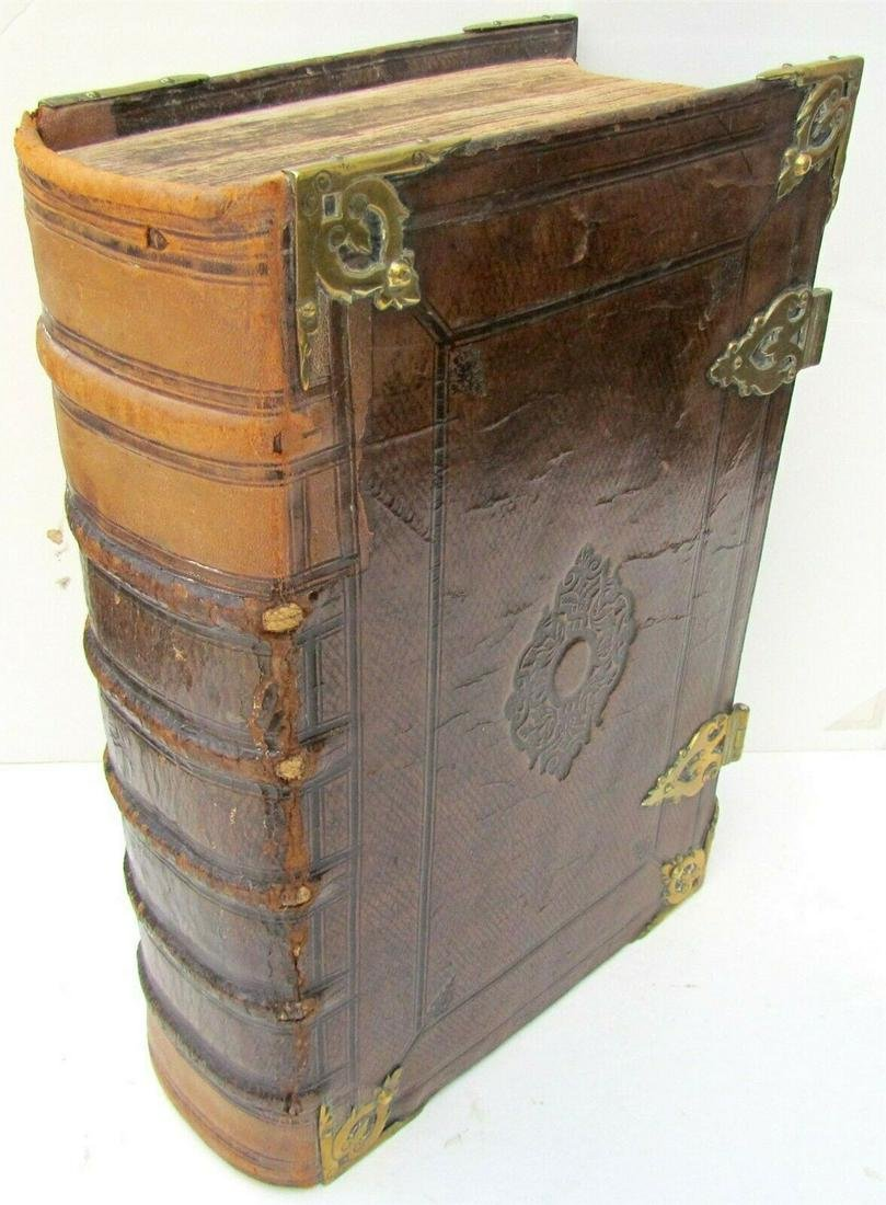 1688 DUTCH BIBLE antique MASSIVE FOLIO ILLUSTRATED w/