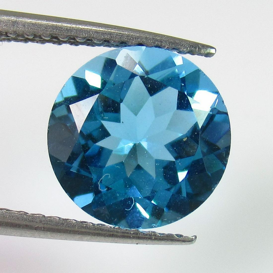 3.11 Ct Genuine Swiss Blue Topaz Round Cut