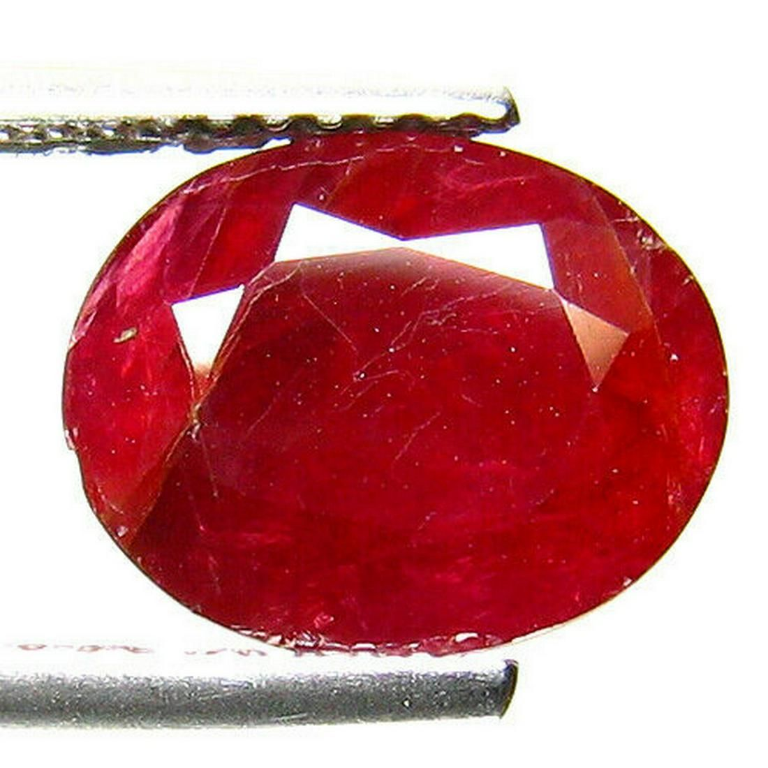 3.45 ct natural certified ruby