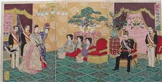 Emperor receiving guests, Nobukazu
