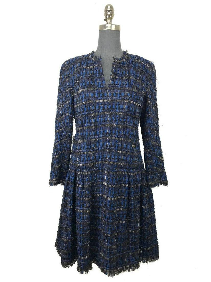 Chanel Interwoven Silk Ribbon Dress Size S