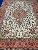 Fine Semi Antique Hand Woven Persian Tabriz Silk & Wool