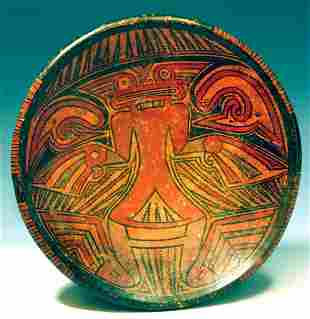Fine Cocle Polychrome Pottery Tazza