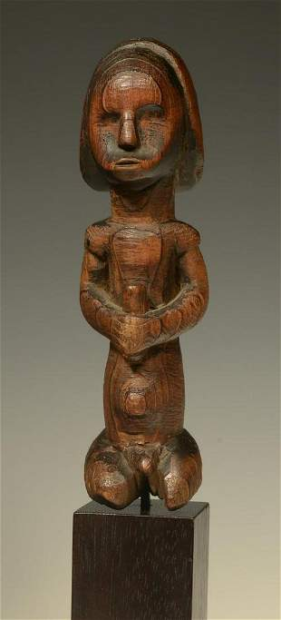 African Fang Byeri Wood Carved Guardian Figure