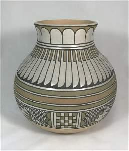 Majestic San Ildefonso Polychrome Jar By Blue Corn