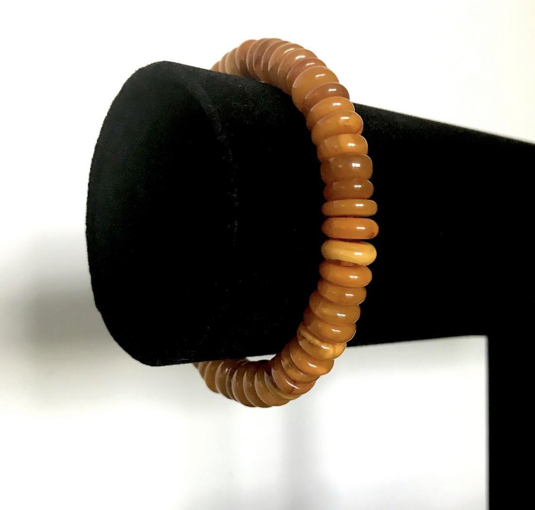Baltic amber bracelet antique doughnuts ø8mm