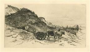 Edmund Henry Garrett original etching Near Mattakeeset