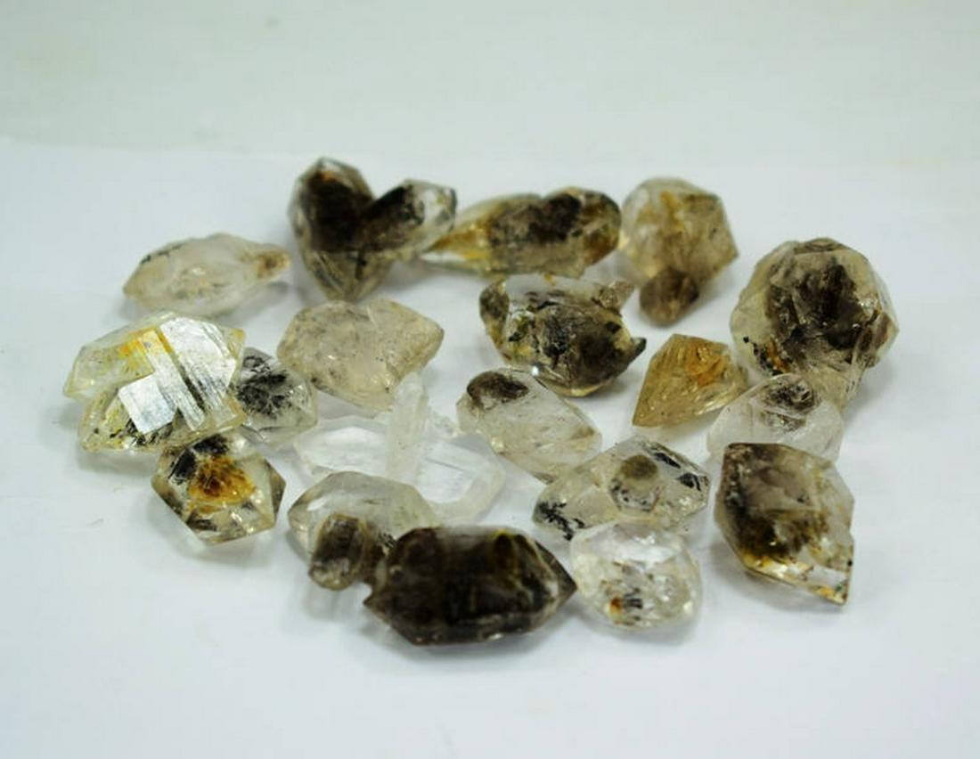 87 Gram double terminated hydro carbon Diamond Quartz