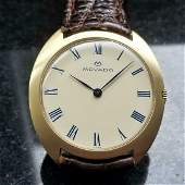 MOVADO Men's 18k Gold cal.246 Hand-Wind Dress Watch,