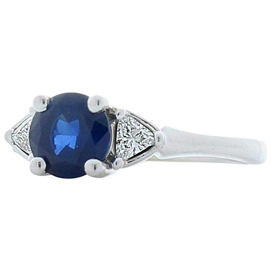 1.03 Carat Sapphire and Trillion Diamond Cocktail Ring