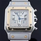 Cartier - Santos Galbée Chronograph - Ref. 2425 - Men -