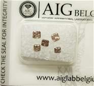 0.85 ct Radiant cut Diamonds Fancy Pink SI2-I1