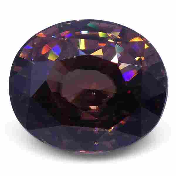 4.67 ct Orangy Pink Zircon Oval Extremely Fine Quality