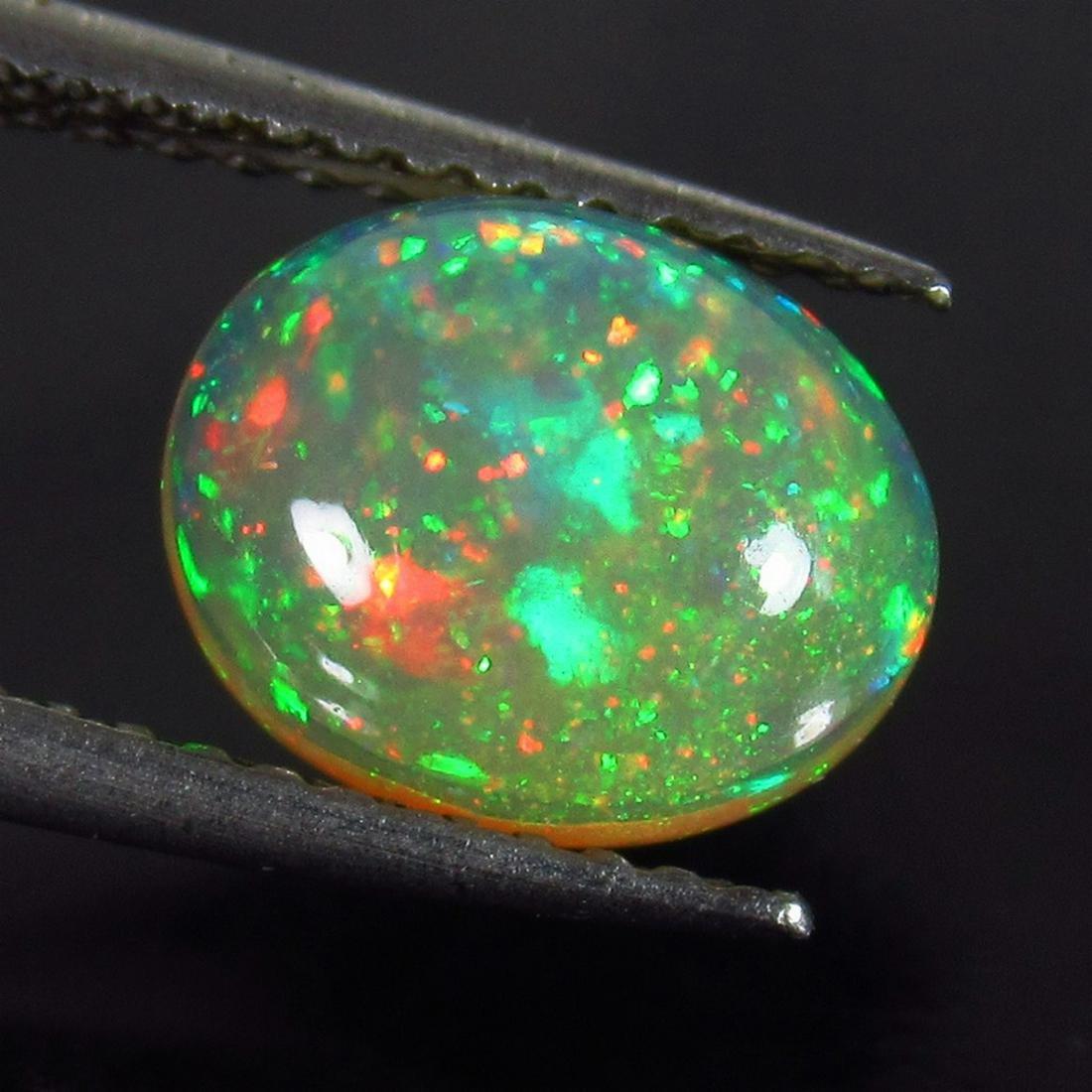 IGI Certified 1.20 Ct Genuine Multi-Color Fire Opal