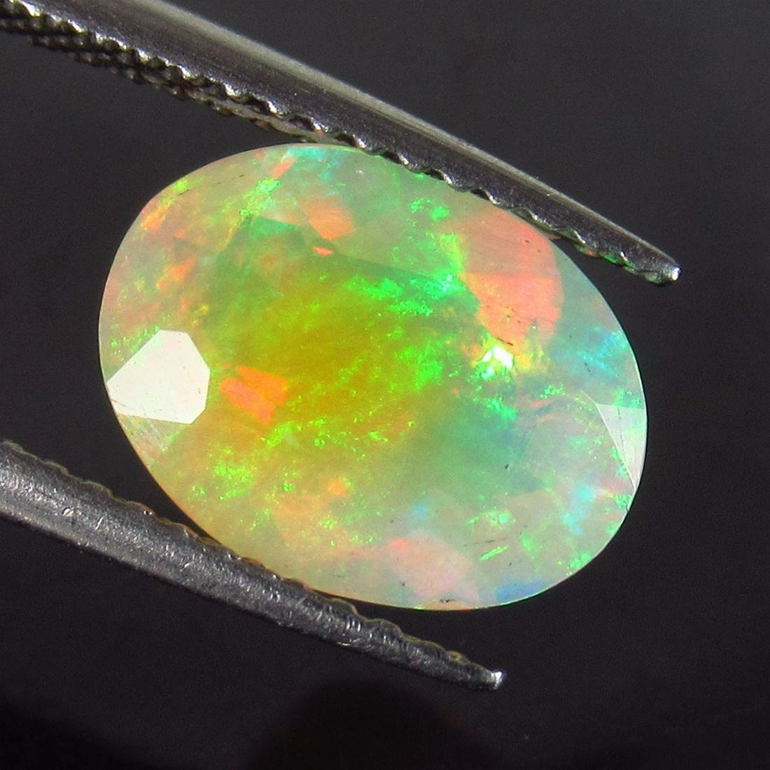 IGI Certified 1.75 Ct Genuine Faceted Opal Oval Cut