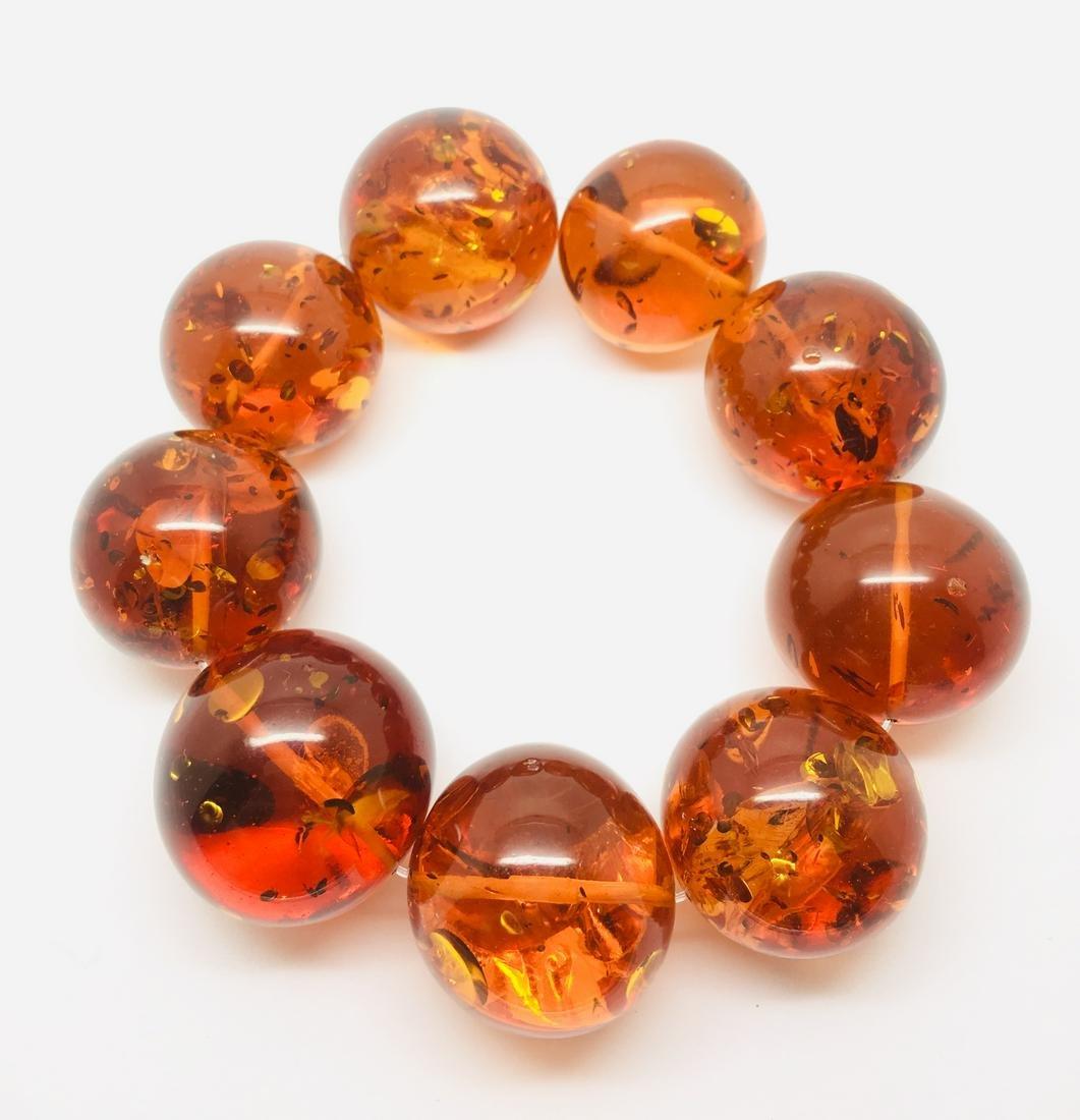 Vintage Amber bracelet 121 grams