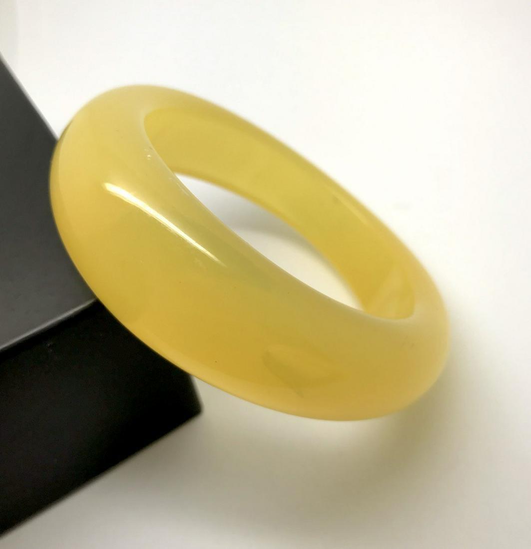 Vintage bangle bracelet amber bakelite 63.9 gr