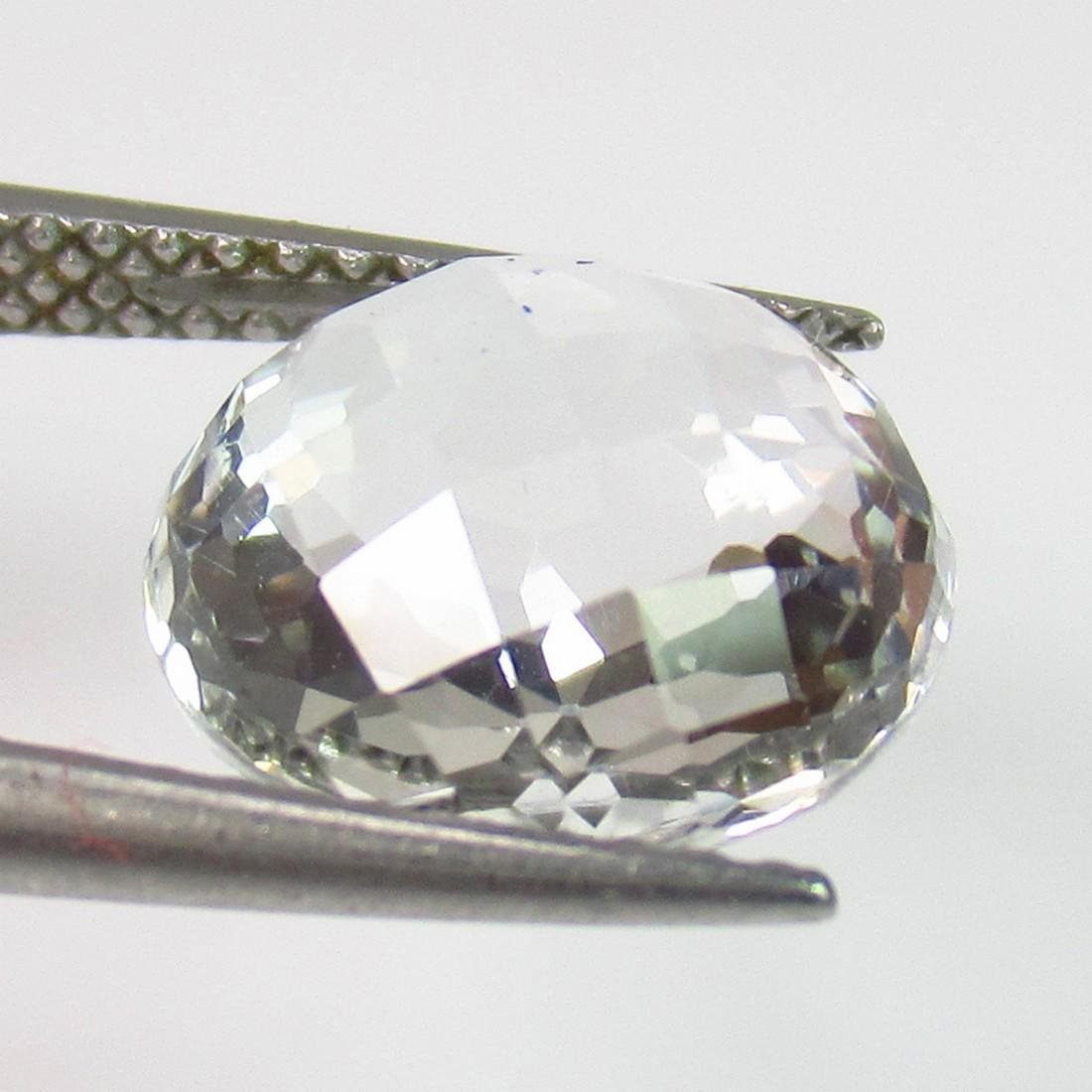 5.20 Ct Genuine White Topaz 10.3 mm Round Cut