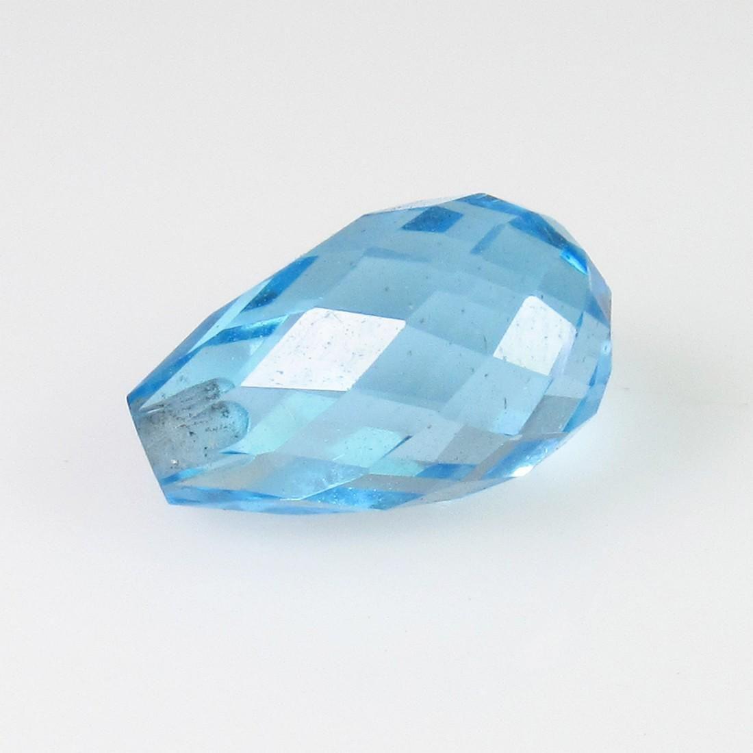 3.39 Ct Genuine Swiss Blue Topaz Drilled Pear Drop