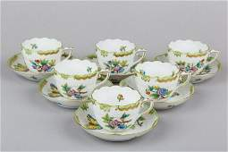 Set of Six Herend Queen Victoria Coffee Mocha Cups with