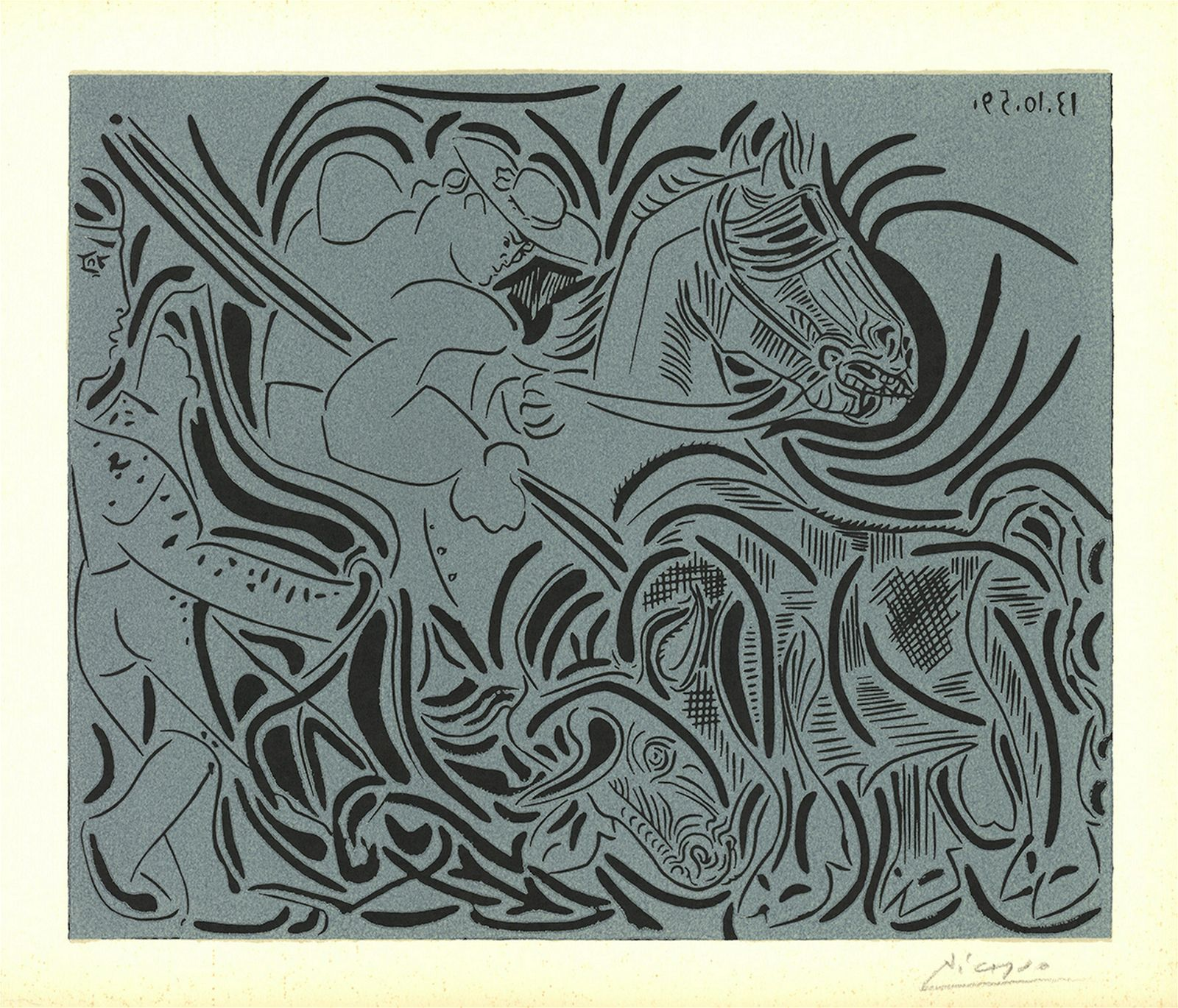 Pablo Picasso: Man on a Horse