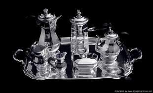 Christofle 8 pc. Art Deco Tea Set