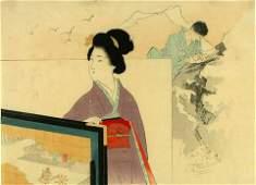 Tomioka Eisen: A kuchi-e (frontispiece illustration)