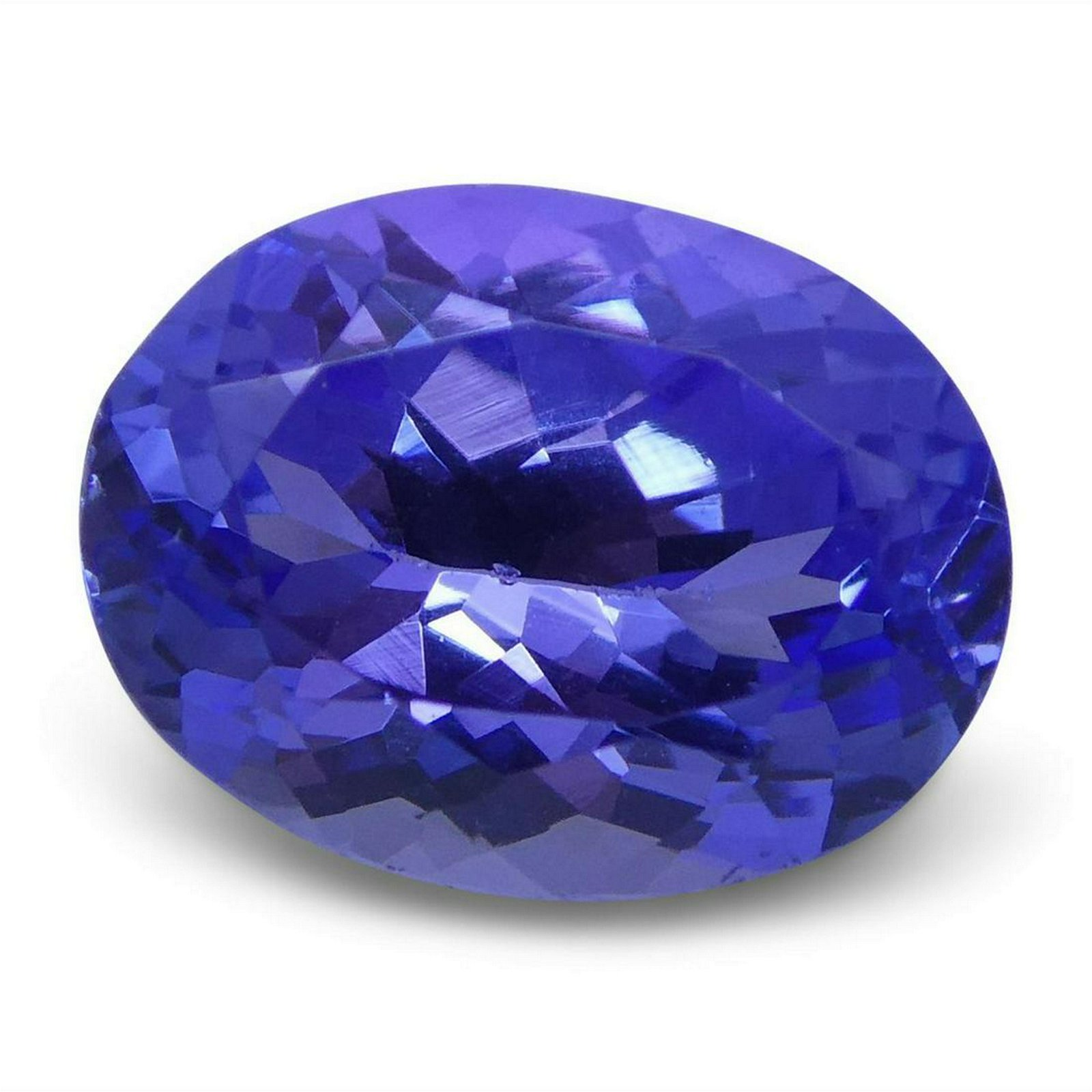 2.10 ct Oval Tanzanite IGI Certified With Laser