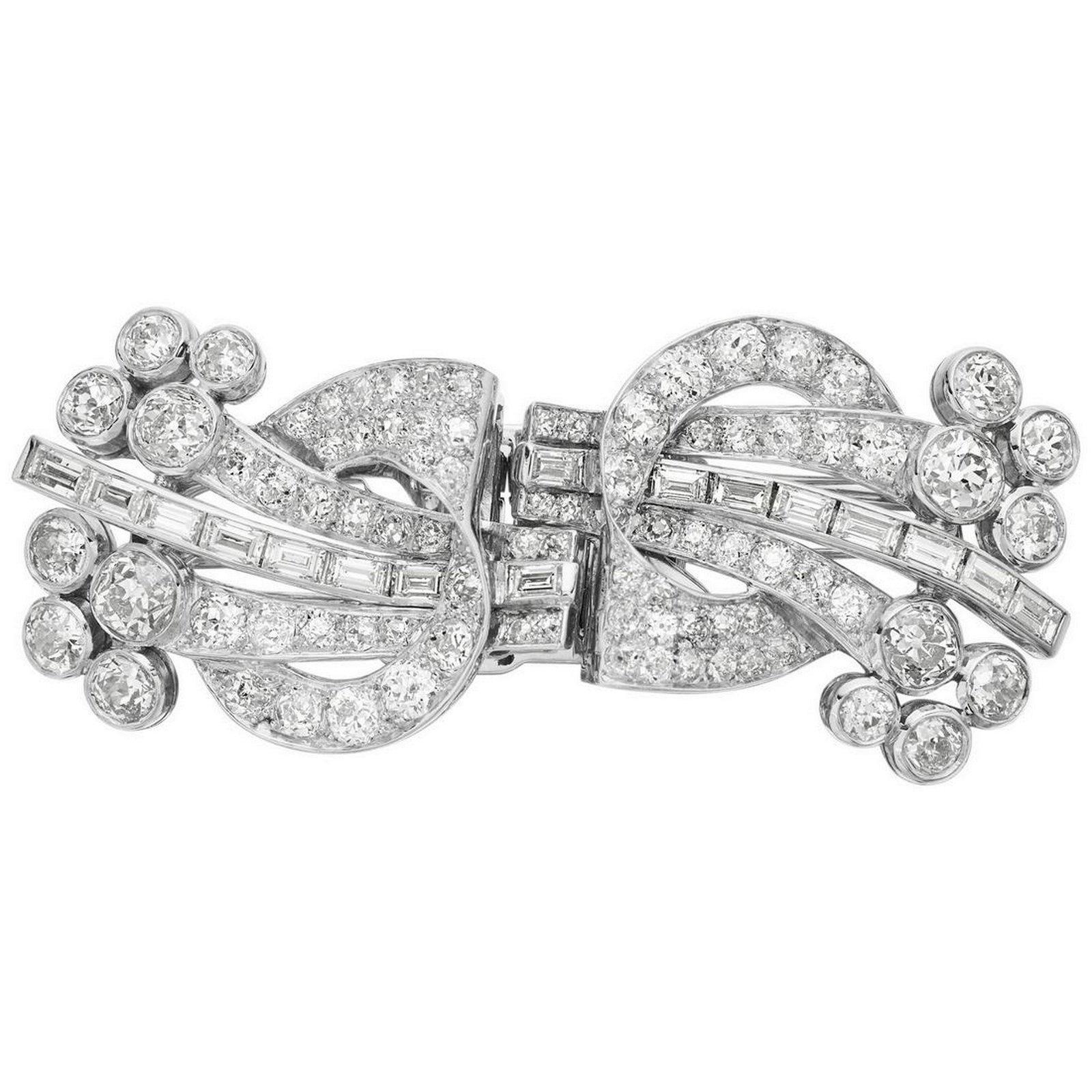 Art Deco 1920, Old European and Baguette Diamonds