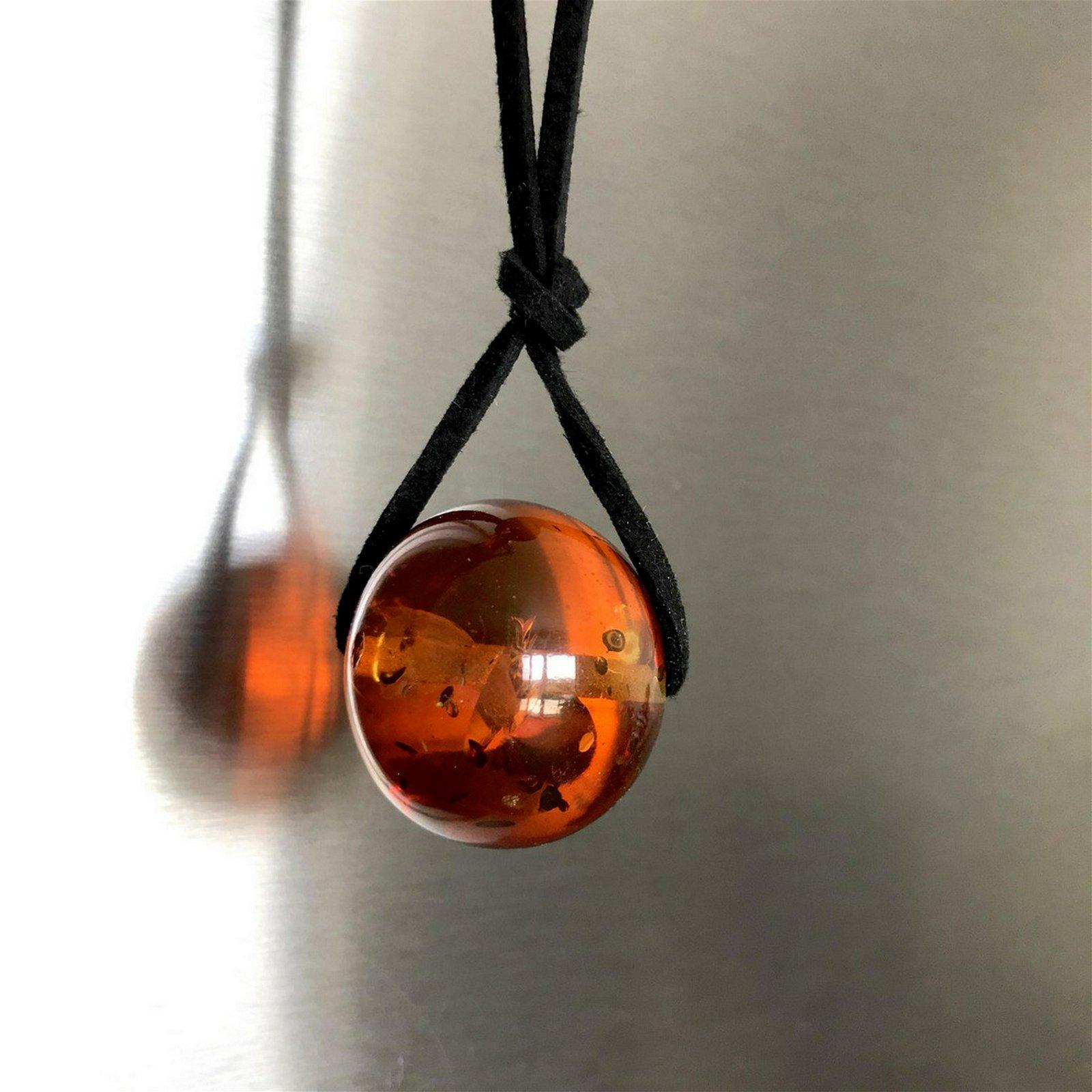 Pendant Baltic amber bead 3cm