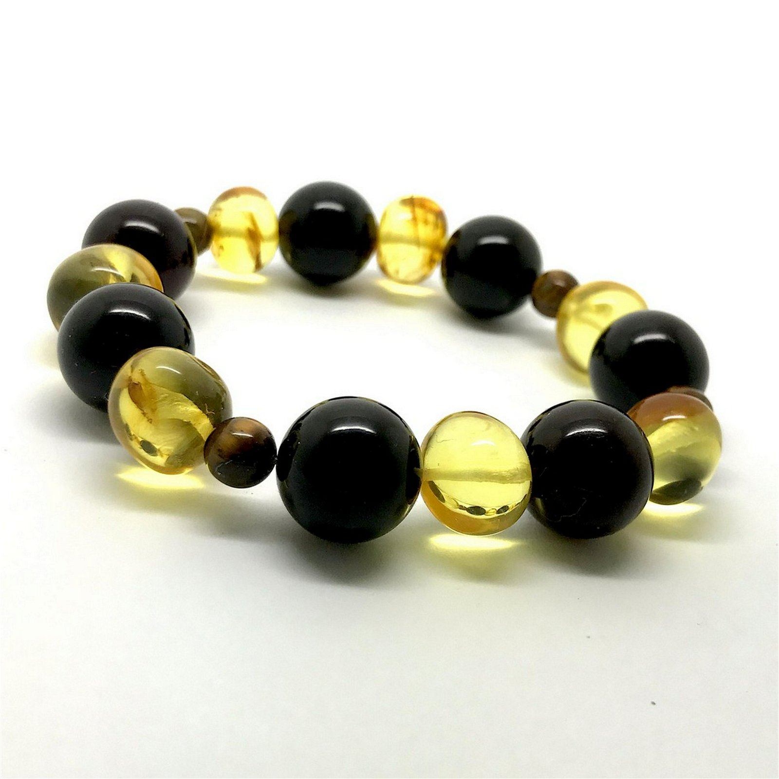 Baltic amber mosquito fly inclusion bracelet