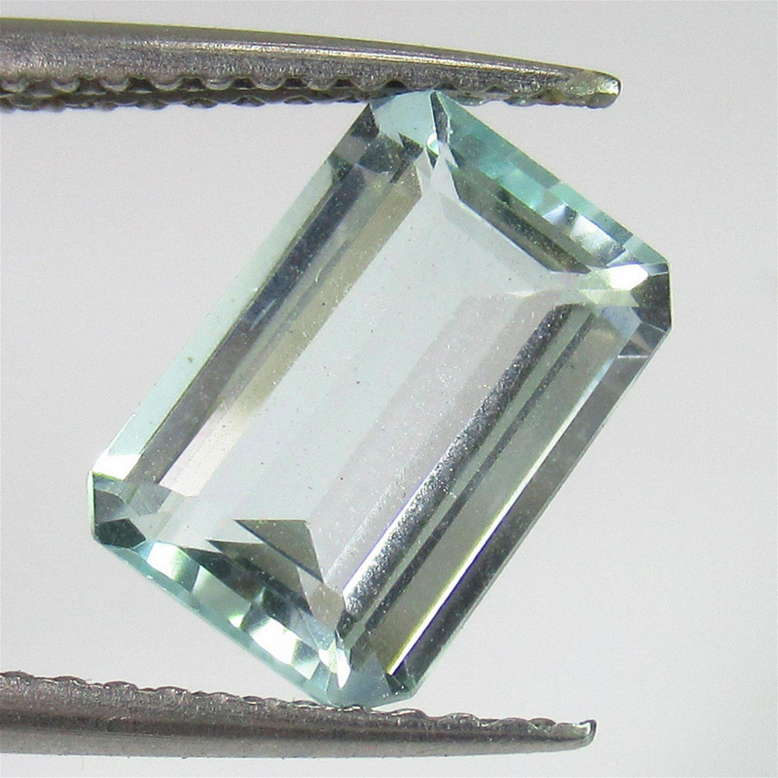 1.78 Ctw Natural Aquamarine 9.5X6.5 mm Emerald Cut