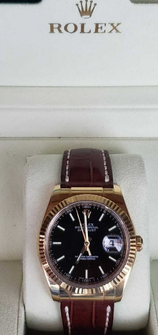 Rolex 116138 Oyster Perpetual DateJust 36mm 18K Y Gold