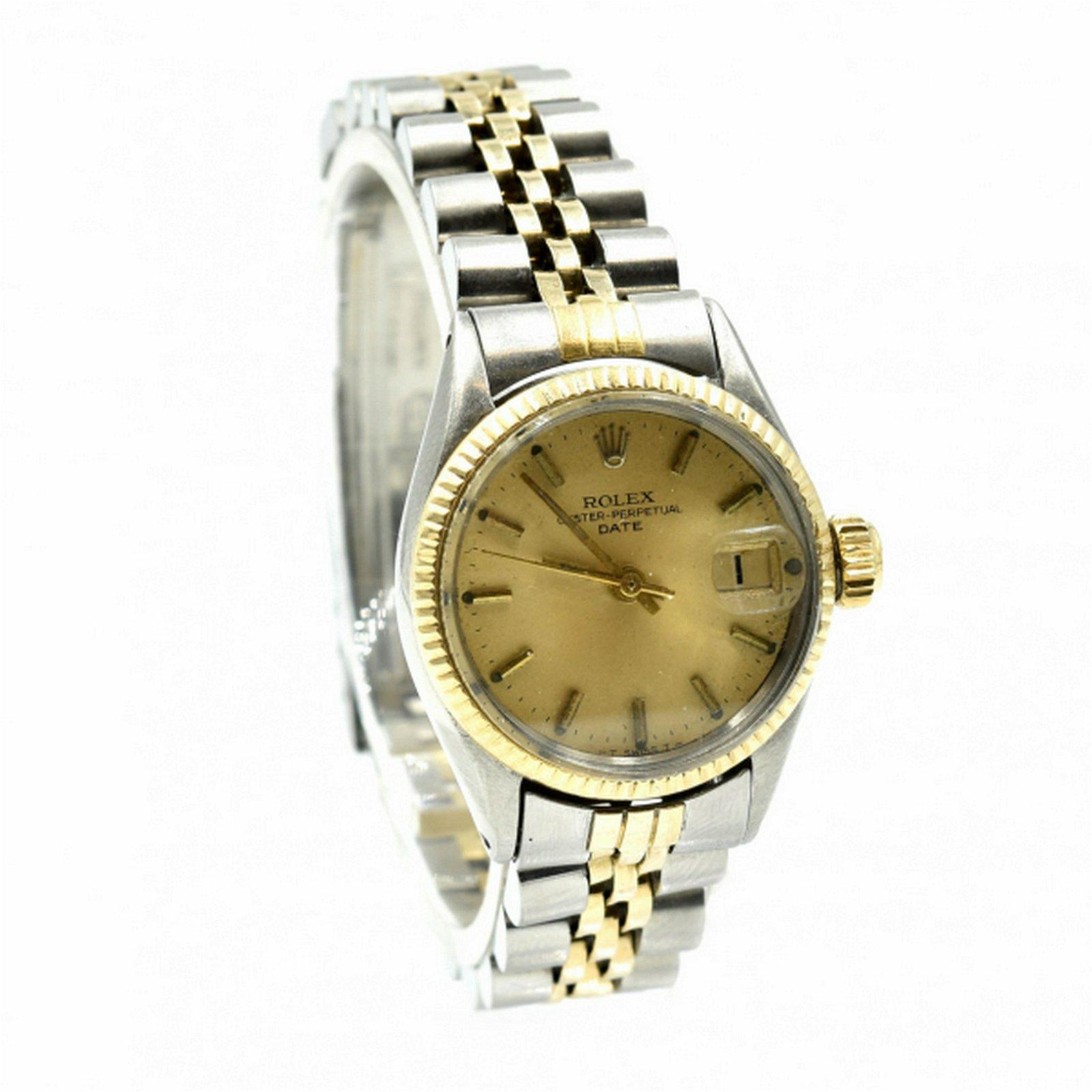 Ladies Stainless Steel/18k Gold Rolex Datejust Watch