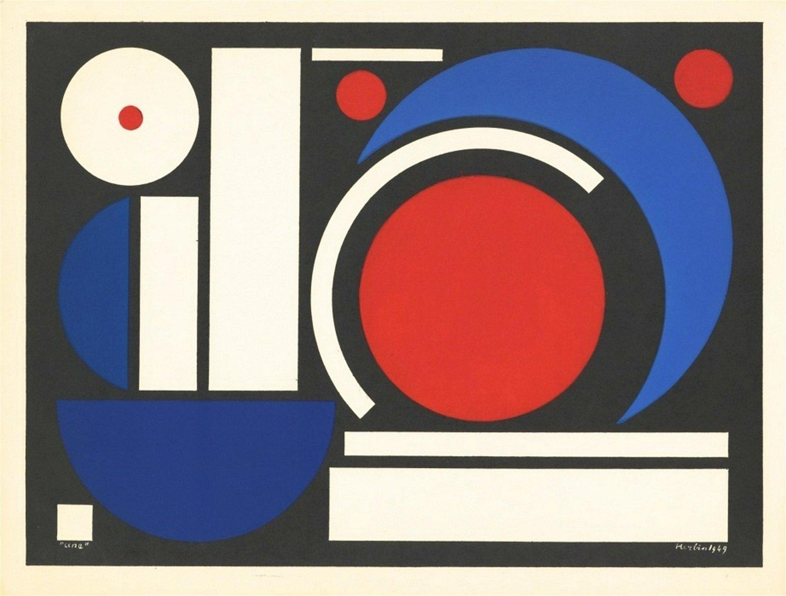 "Auguste Herbin ""Une"" silkscreen | serigraph"