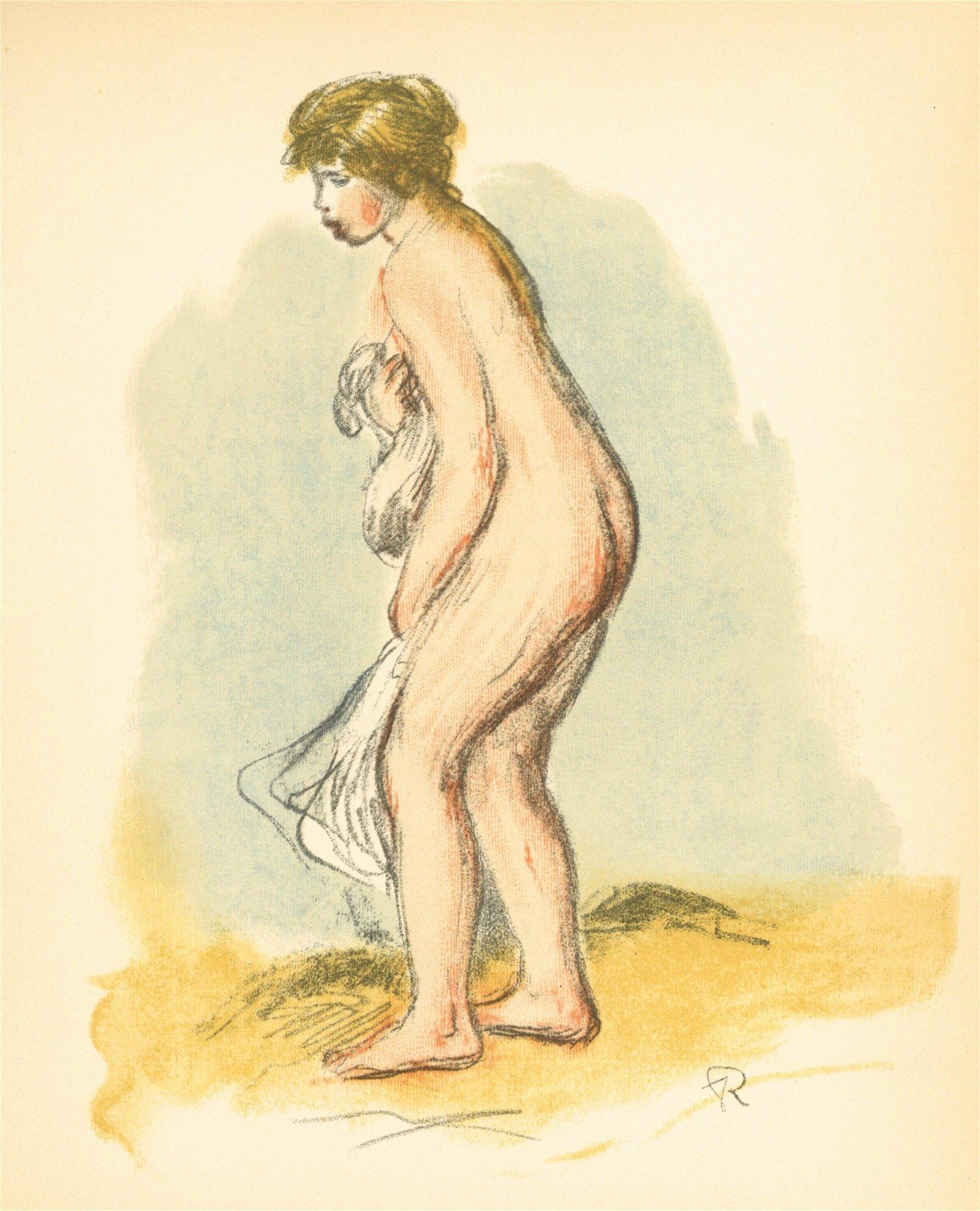 """Pierre-Auguste Renoir lithograph """"Baigneuse debout"""""""