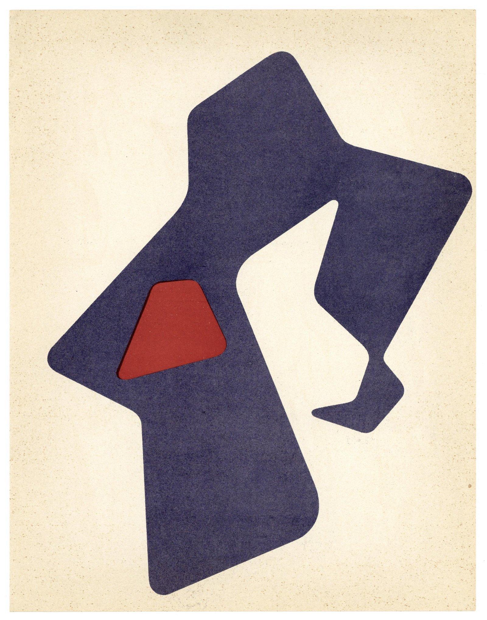 Jean Hans Arp original lithograph, 1951