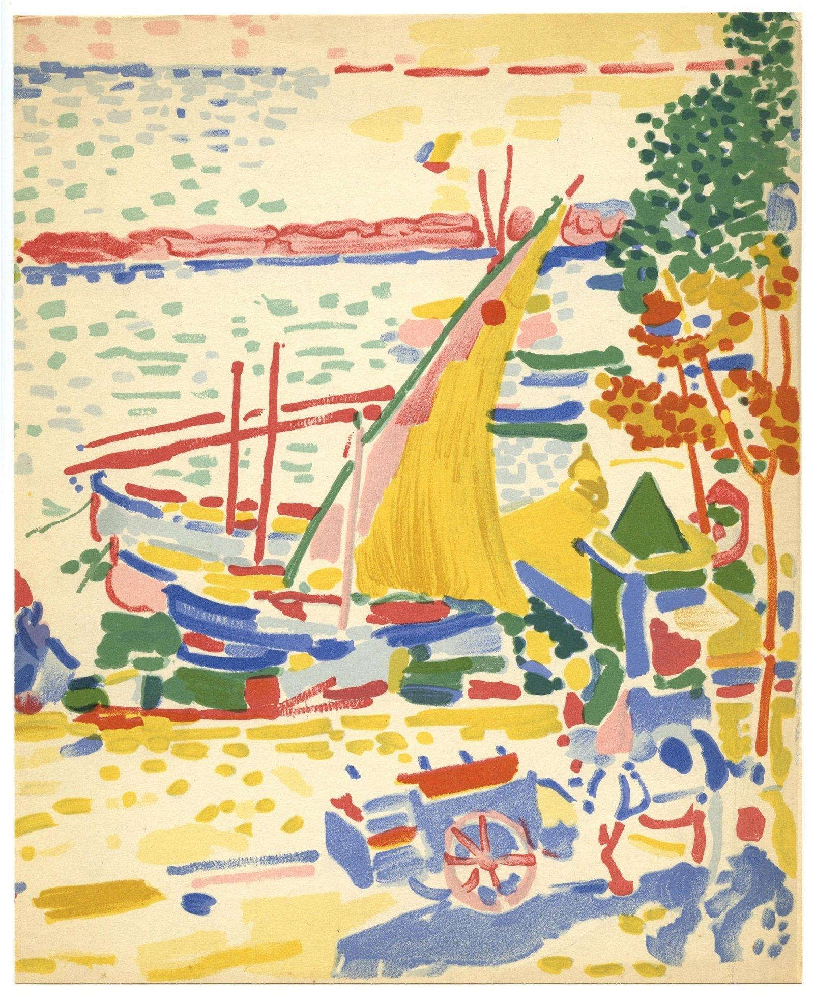 """Andre Derain lithograph """"Le Port de Collioure"""""""