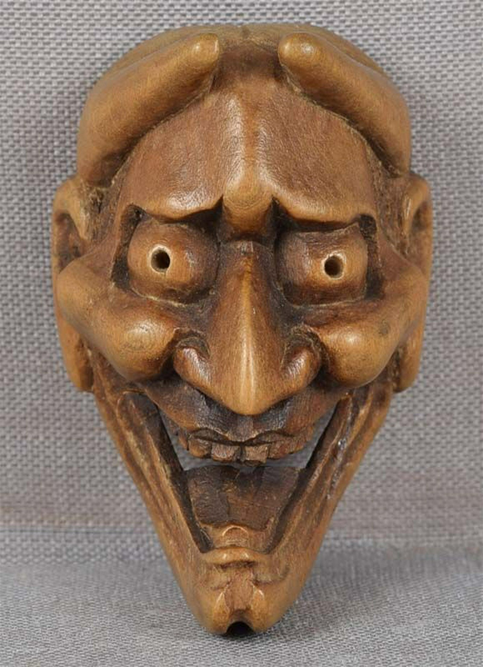 19c mask netsuke DEMON HANNYA