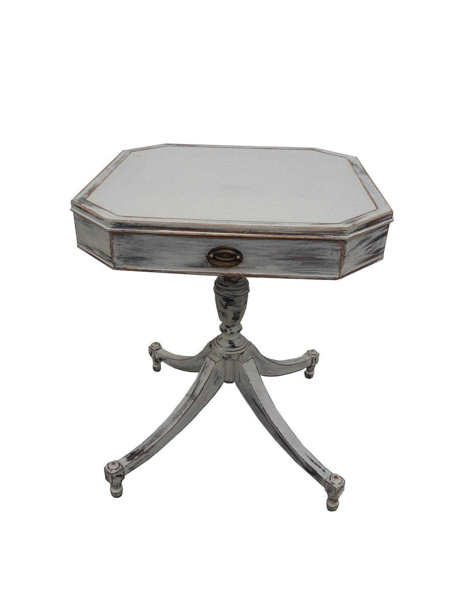 Antique Mahogany Side Table Gustavian Style Gray