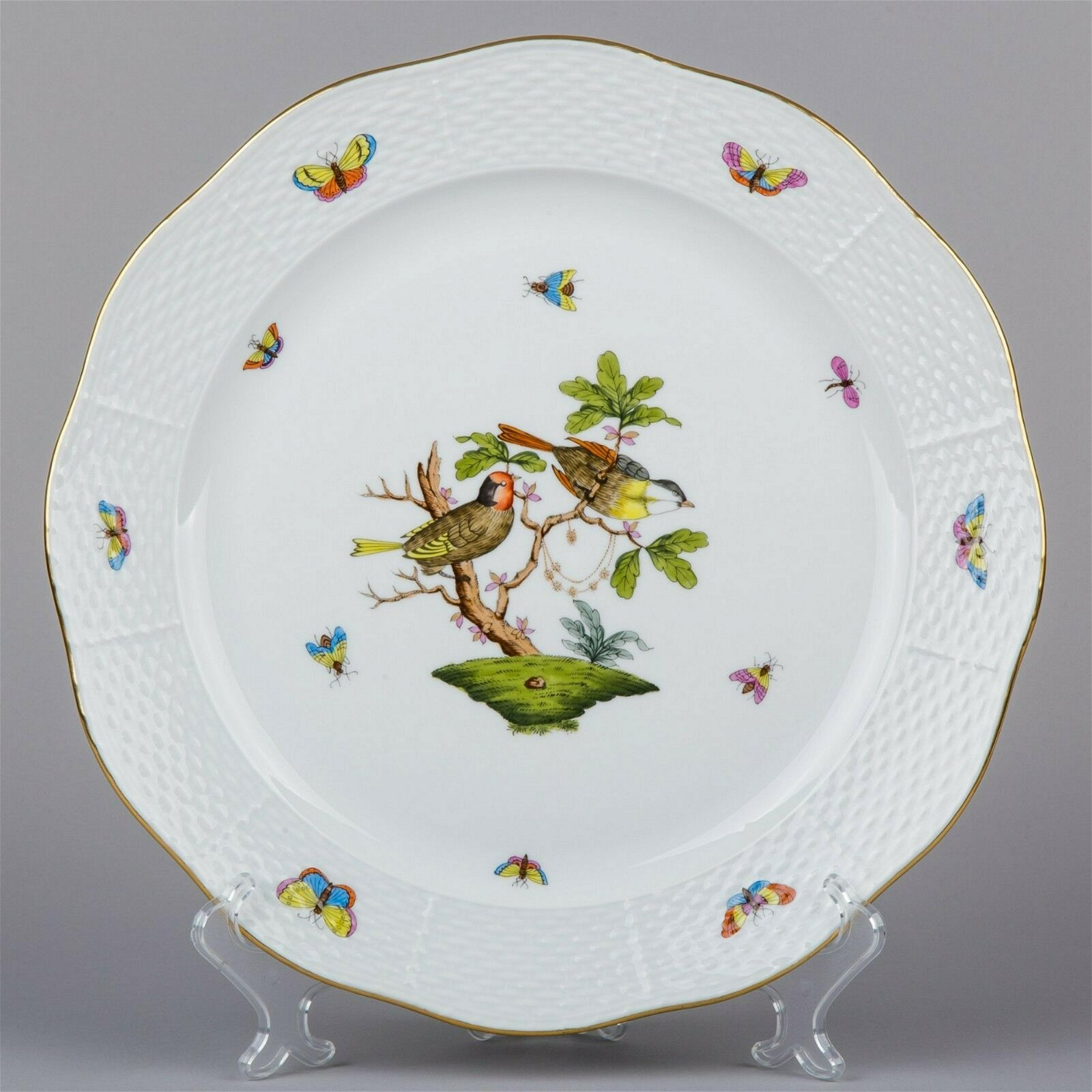 Herend Rothschild Bird XXL Round Serving Platter