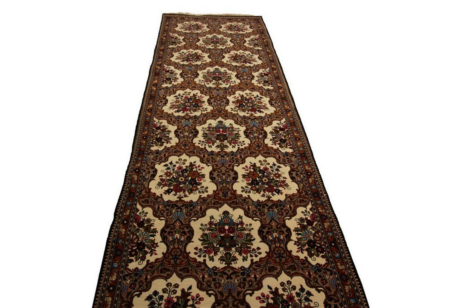 Fine Vintage Persian Ghom Quom Qum Kork Wool Rug Runner