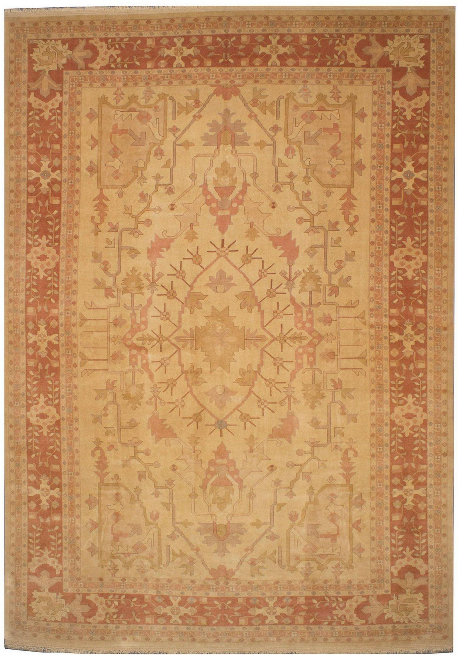 Hand-knotted Caucasus Kula Light Gold Wool Rug